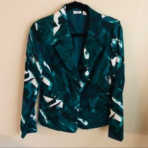 Cato blue, green and white Blazer